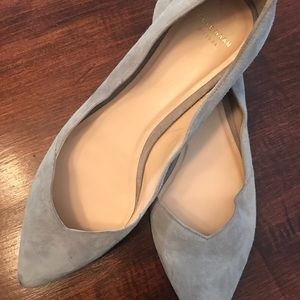 Cole Haan, grey sueded flats